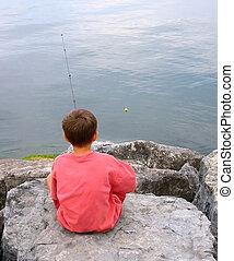 gone fishin - boy fishing