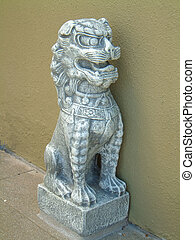 Chinese Stone Dog - Chinese-style stone dog statue. These...