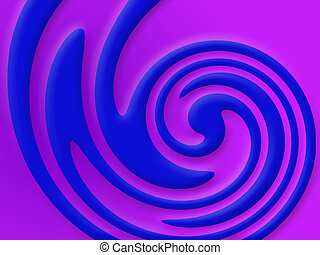 Twirl - A computer generated image with a blue twirl on a...