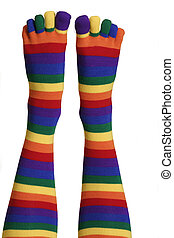 Toe socks - Bright and colourful toe socks