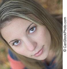 Beautiful Face - A beautiful young woman.