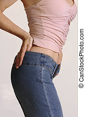 Get in shape - Shapely girl in jeans and top