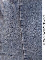 Old denim - Close detail of old denim jeans. High contrast.