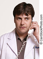 Doc on call - Doctor listens to patients ailment