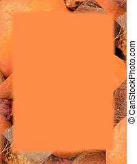 Orange Border - Orange border made of orange and brown...