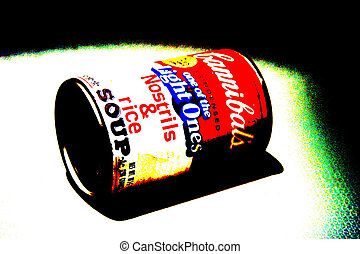 cannibal soup #2 - Pop art view of my origional art Cannibal...