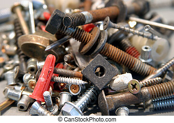 nuts and bolts 1 - various nuts and bolts and screws and...