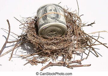 blank 10 - a real bird nest with $10,00000 cash rolled and...