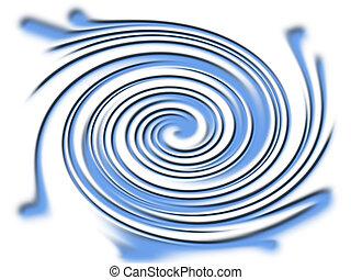 Blue vortex - A computer rendered background image