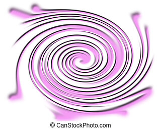 Purple vortex - A computer rendered background image