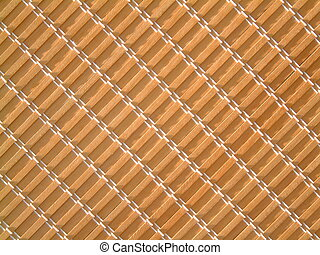 Rattan Blinds - A textural shot of rattan window blinds.