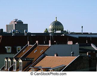 metropolitano, telhados