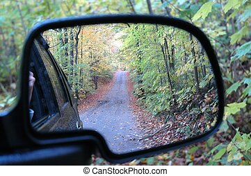 Don't Look Back - A photo I took in the rearview mirror the...