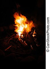 Campfire - Here's a photo I took of our campfire. Ahmic...