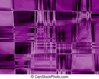 Purple Haze - Geometric design in purple