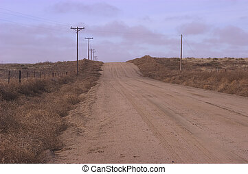 Lonesome road - Dirt road in rural Kansas