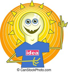 Light Bulb Man - Light bulb man with bright ideas