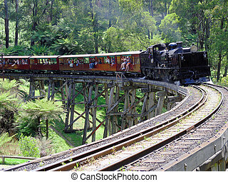 Puffing Billy - Tourist Steam Train, Melbourne, Australia