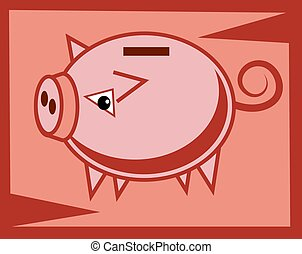 Piggy Bank - Piggy bank design.