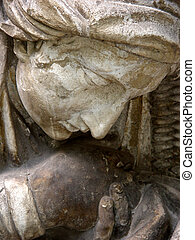 Madonna - Details of the frieze depicting St Sergius...