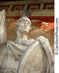 Warrior - Details of the frieze depicting St Sergius...