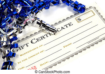 Gift Certificate - Photo of a Gift Certificate