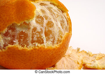 Peeled Orange - Photo of a Half Peeled Orange