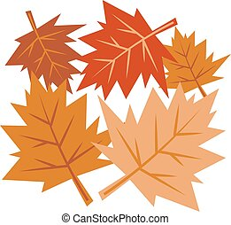 Fall Leaves - Autumn leaves falling