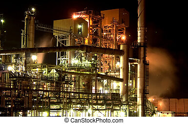Lubrication Plant - Petro Canada Lubrication Plant night...