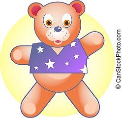 Teddy Bear - Kids cuddly toy.