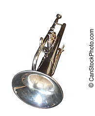 Brass Trumpet Isolated