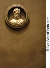 antiguo, griego, busto