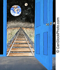 """View From Beyond - my origional artwork, titled """"View From..."""