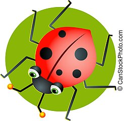 Ladybug - Cartoon ladybug illustration
