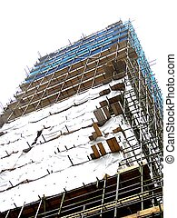 Scaffolding construction.