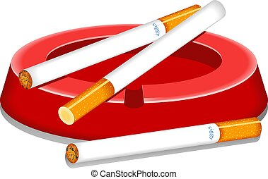 Cigarettes and ashtray design
