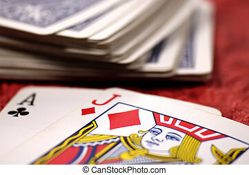Playing Cards - Photo of a Deck of Cards With Shallow DOF.