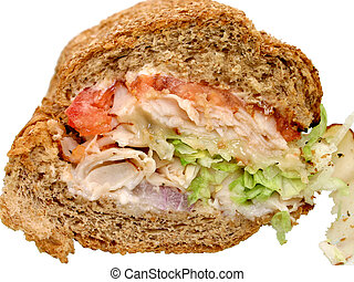 Turkey Ranch Sub - Roasted turkey montery cheese with...