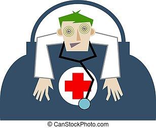 Doctor - Overworked doctor.