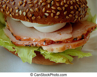 Sandwich - Ham and egg sandwich-detail