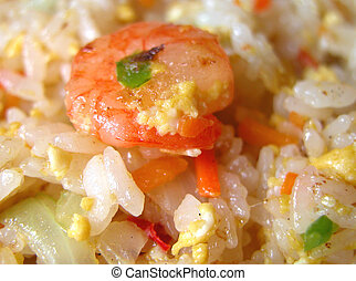 Rice and shrimp - A speciallity of rice prepared in Chinese...