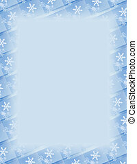 Snow Tile Border over Blue - Blue and white border over...