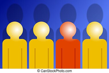 Different - Dare to be different? Stand out from the crowd.