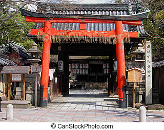 Temple gate - An usual gate of japanese temple in Kyoto...