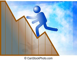 Climb to Success - Climbing to success. Concept...