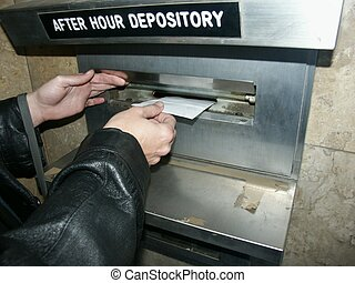 Mailing a letter.