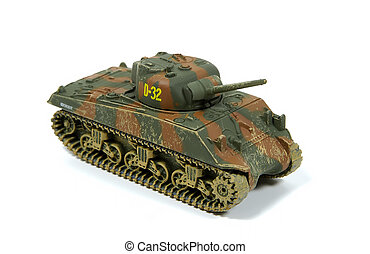 Tank Model - Photo of a Vintage WW2 Tank