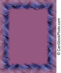 Purple Background - Blue frame on purple.