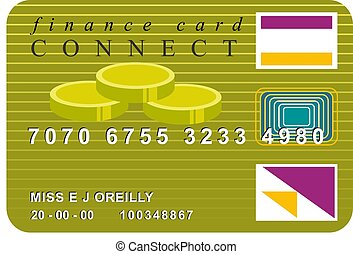Credit Card - Gold credit card design.