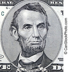 Lincoln 5 Dollar Bill Macro